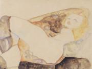"""Эгон Шиле (Egon Schiele), """"Mann, Frau auf den Knien haltend"""""""
