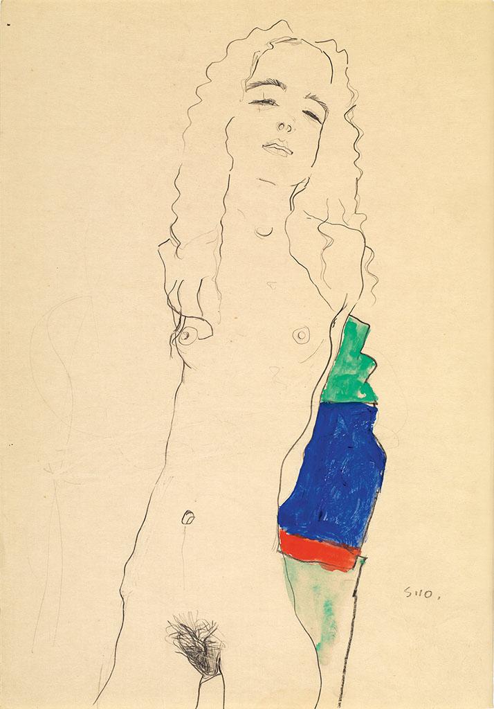 """Эгон Шиле (Egon Schiele), """"Stehender weiblicher Akt"""""""