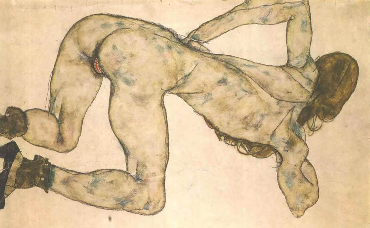 "Эгон Шиле (Egon Schiele), ""Bended female nude"""