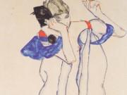 "Эгон Шиле (Egon Schiele), ""Frau im Morgenrock"""