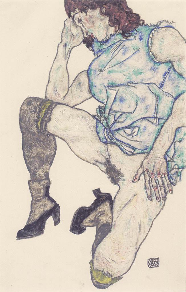 """Эгон Шиле (Egon Schiele), """"Kniendes Madchen"""""""