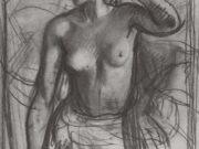 "Зинаида Серебрякова (Zinaida Serebriakova), ""Этюд к женскому портрету"""