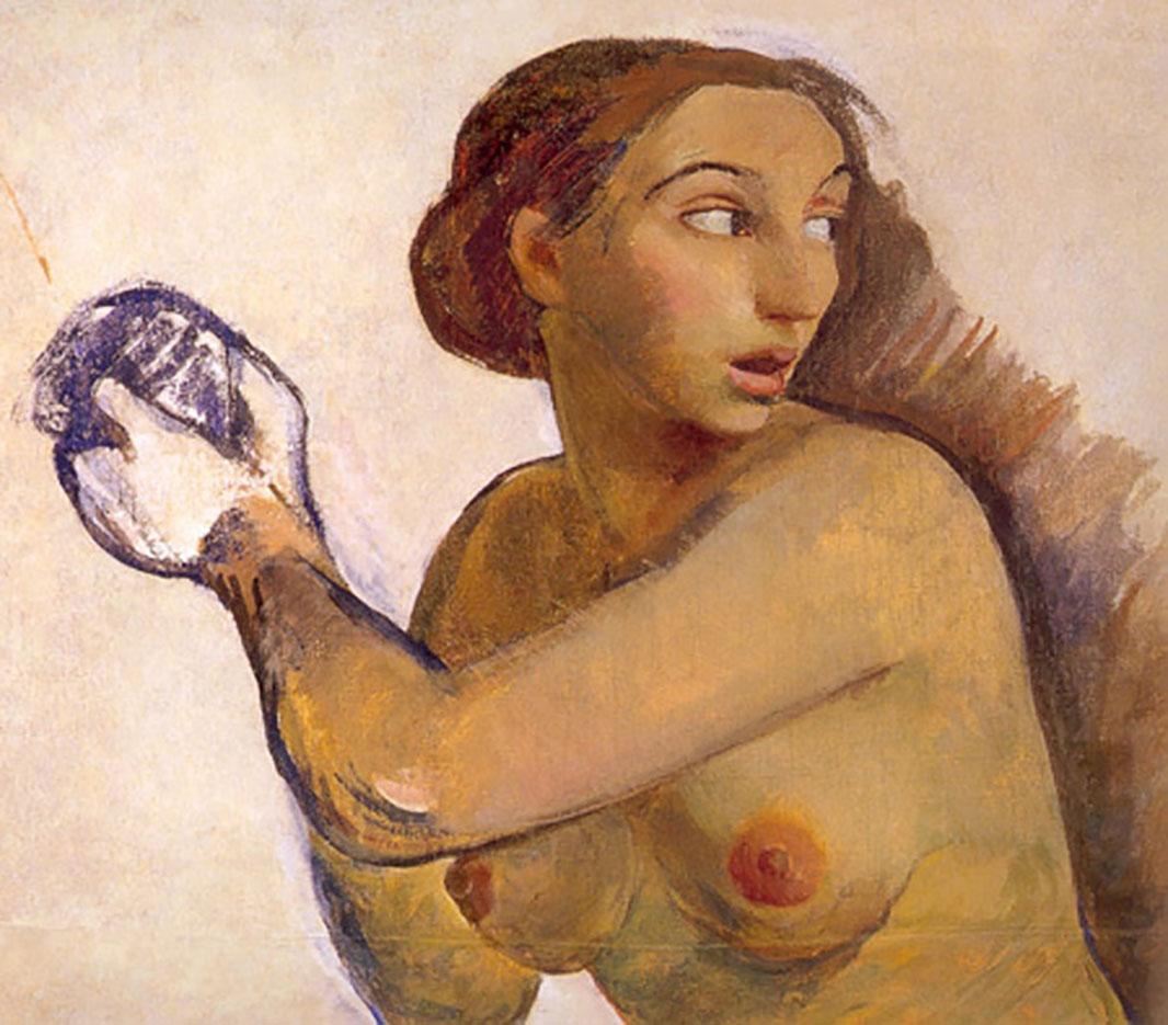 """Зинаида Серебрякова (Zinaida Serebriakova), """"Обнажённая. Эскиз"""""""
