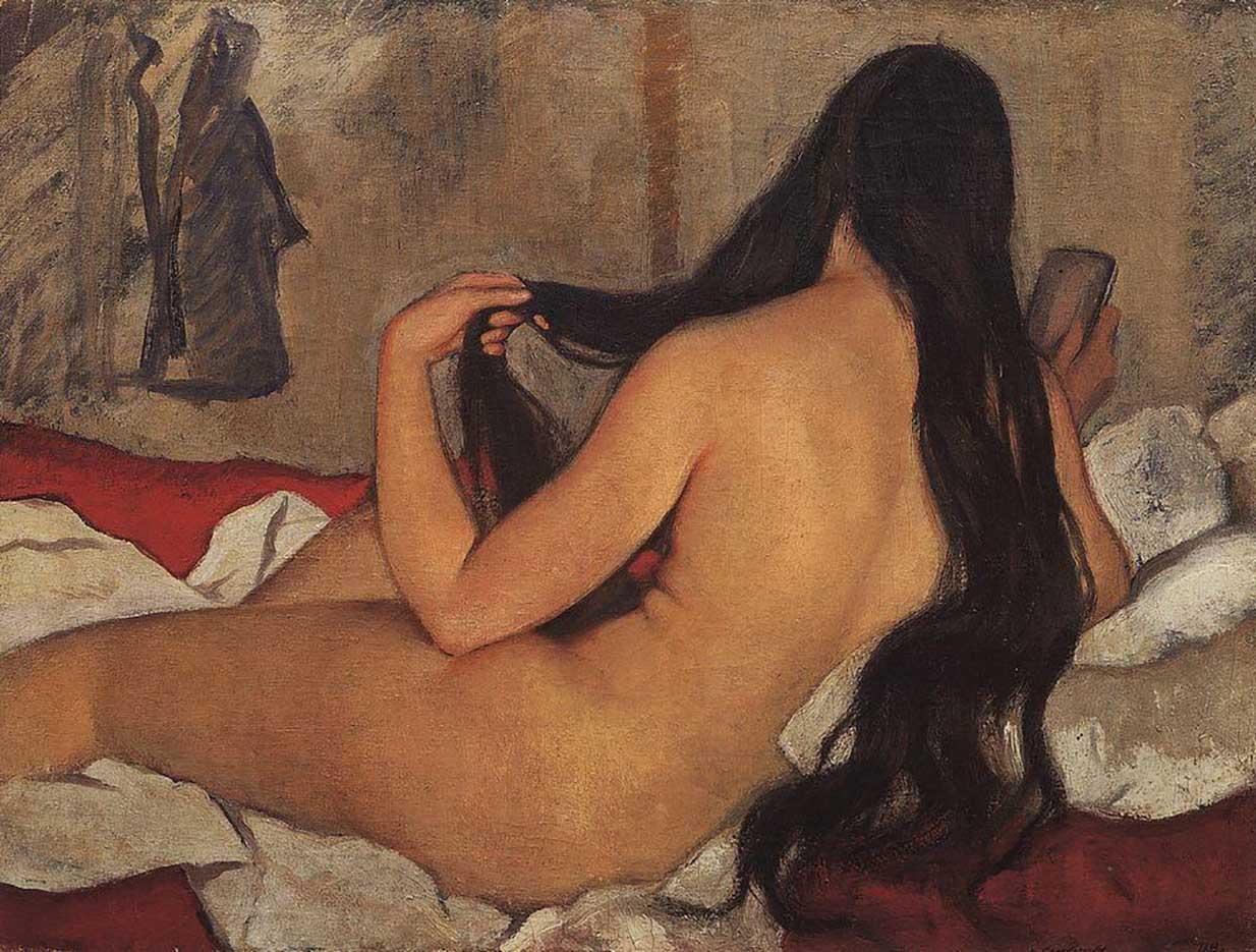 """Зинаида Серебрякова (Zinaida Serebriakova), """"Обнажённая"""""""