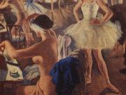 """Зинаида Серебрякова (Zinaida Serebriakova), """"В балетной уборной (Лебединое озеро)"""""""