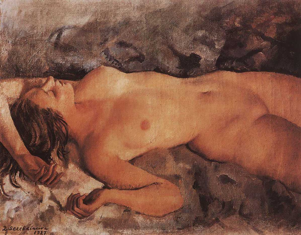 """Зинаида Серебрякова (Zinaida Serebriakova), """"Обнажённая натура"""""""
