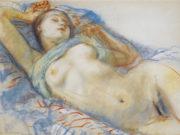 "Зинаида Серебрякова (Zinaida Serebriakova), ""Лежащая обнажённая - 2"""