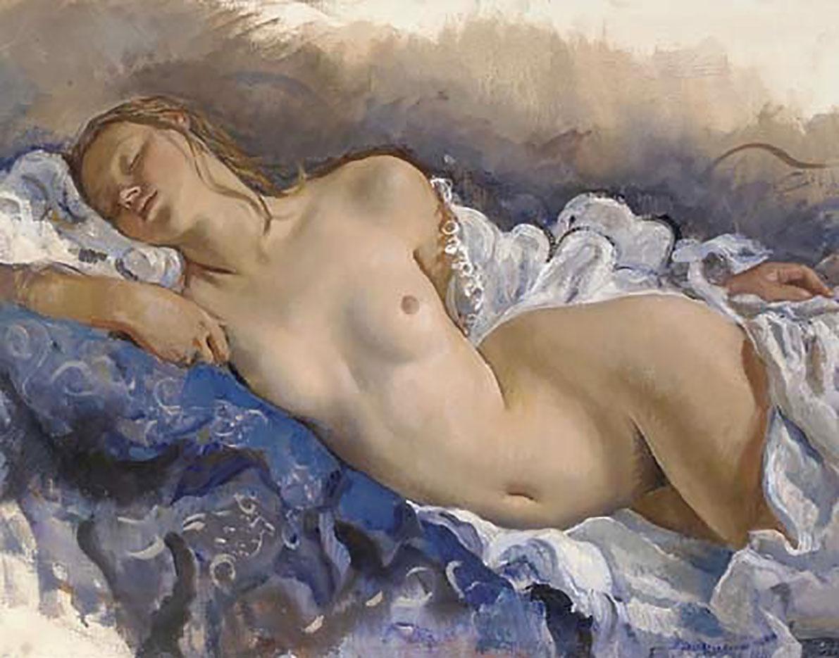 """Зинаида Серебрякова (Zinaida Serebriakova), """"Спящая обнажённая"""""""