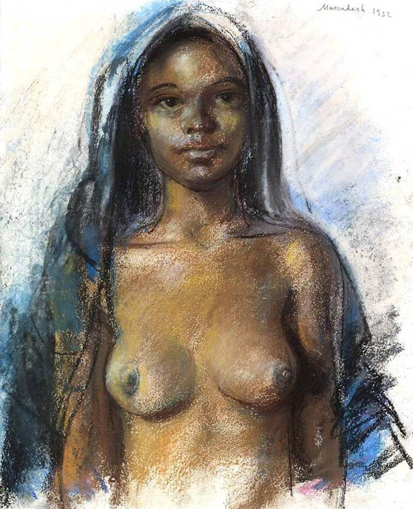 "Зинаида Серебрякова (Zinaida Serebriakova), ""Марокканская девушка"""