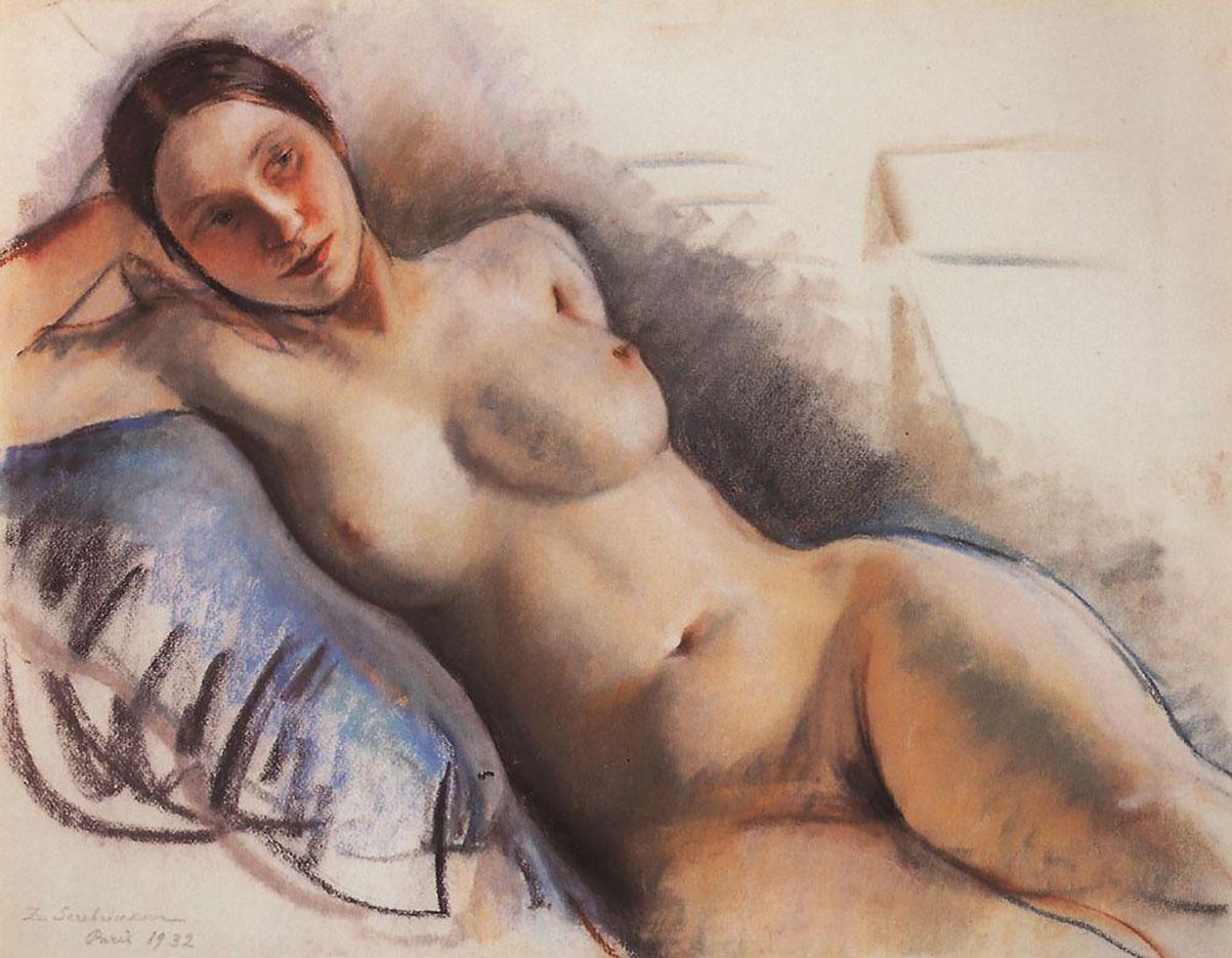 """Зинаида Серебрякова (Zinaida Serebriakova), """"Обнажённая натура - 4"""""""