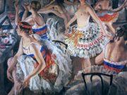 "Зинаида Серебрякова (Zinaida Serebriakova), ""В балетной уборной (Большие балерины)"""
