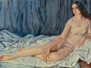 "Зинаида Серебрякова (Zinaida Serebriakova), ""Portrait of Vera Fokine"""