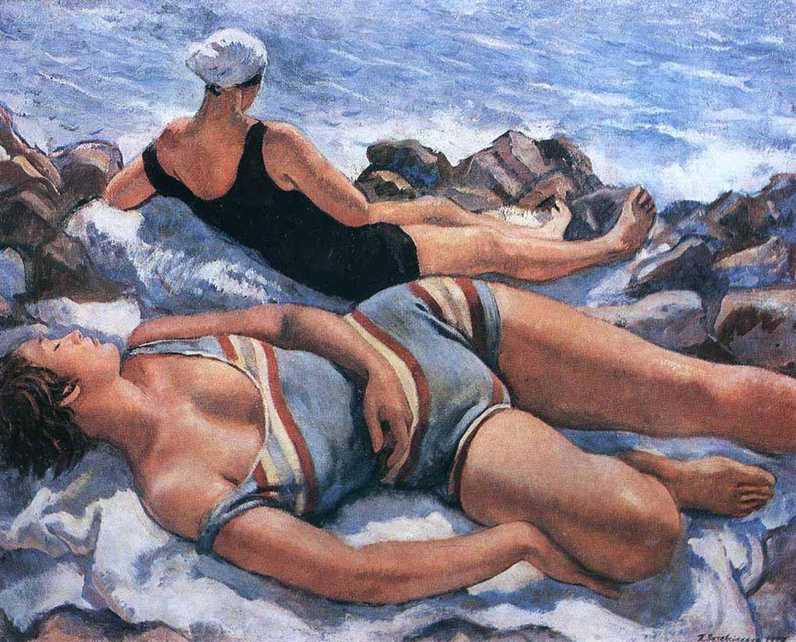 """Зинаида Серебрякова (Zinaida Serebriakova), """"На пляже"""""""