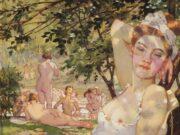 "Константин Андреевич Сомов (Konstantin Somov) ""Купальщицы на солнце | Bathers in the sun"""