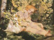 "Константин Андреевич Сомов (Konstantin Somov) ""Девушка на солнце | Girl in the sun"""