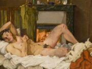 "Константин Андреевич Сомов (Konstantin Somov) ""Лежащий обнаженный мужчина | Reclining Male Nude"""
