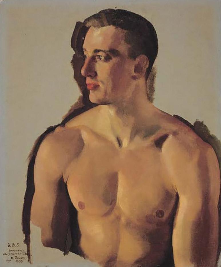 "Константин Андреевич Сомов (Konstantin Somov) ""Борис Снежковский (Portrait of A Man)"""