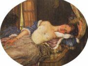 """Константин Андреевич Сомов (Konstantin Somov) """"Спящая молодая женщина   Sleeping young woman"""""""