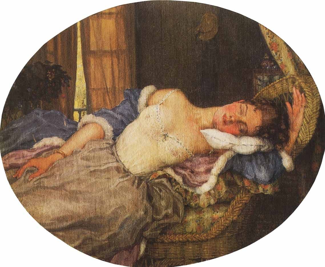 "Константин Андреевич Сомов (Konstantin Somov) ""Спящая молодая женщина 