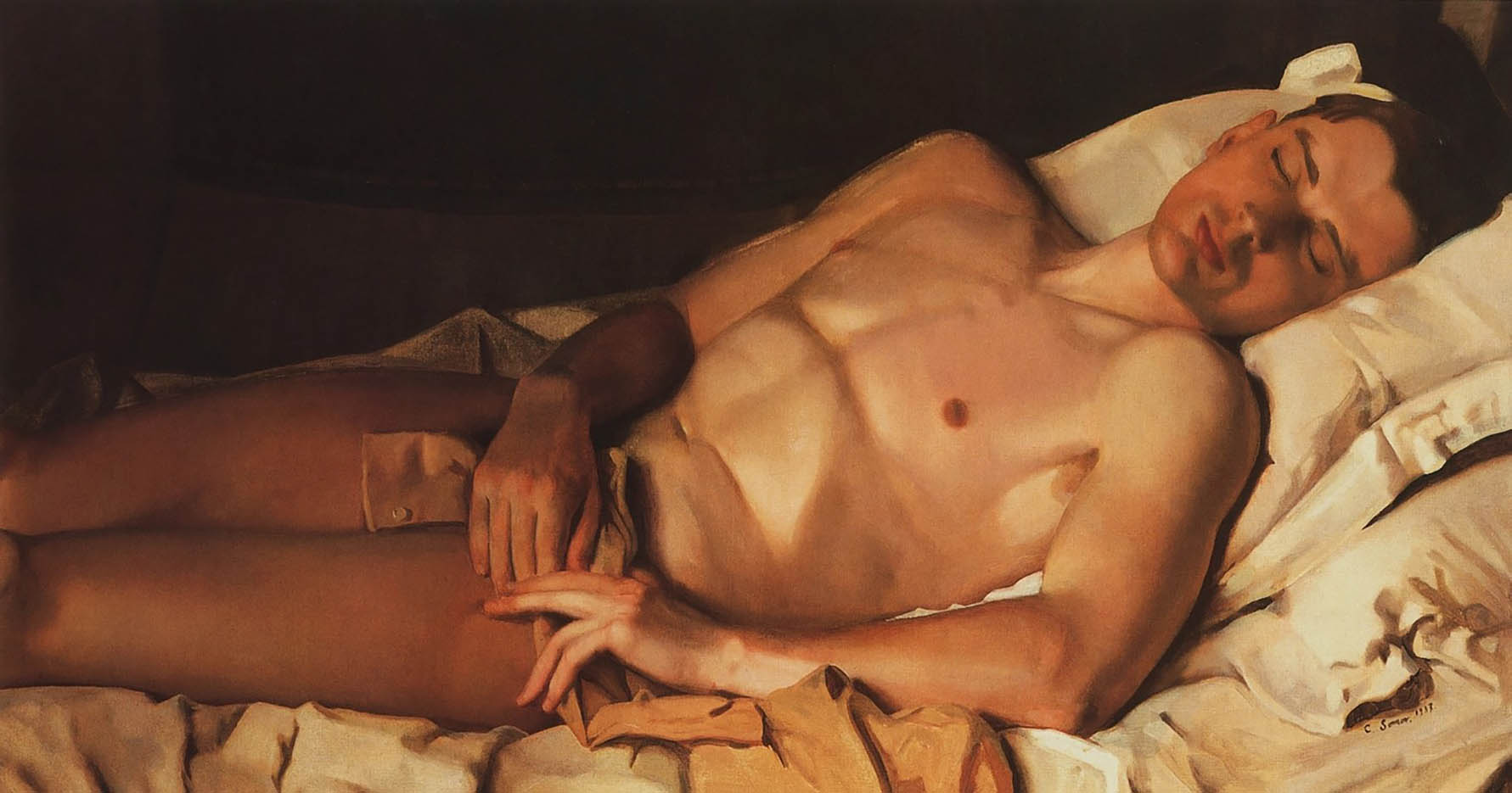 "Константин Андреевич Сомов (Konstantin Somov) ""Обнаженный юноша (Б.М. Снежковский) | Naked youth"""