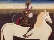 "Фридрих Шрёдер-Зонненштерн (Friedrich Schröder Sonnenstern) ""The Moon Rider Official on a White Horse"""