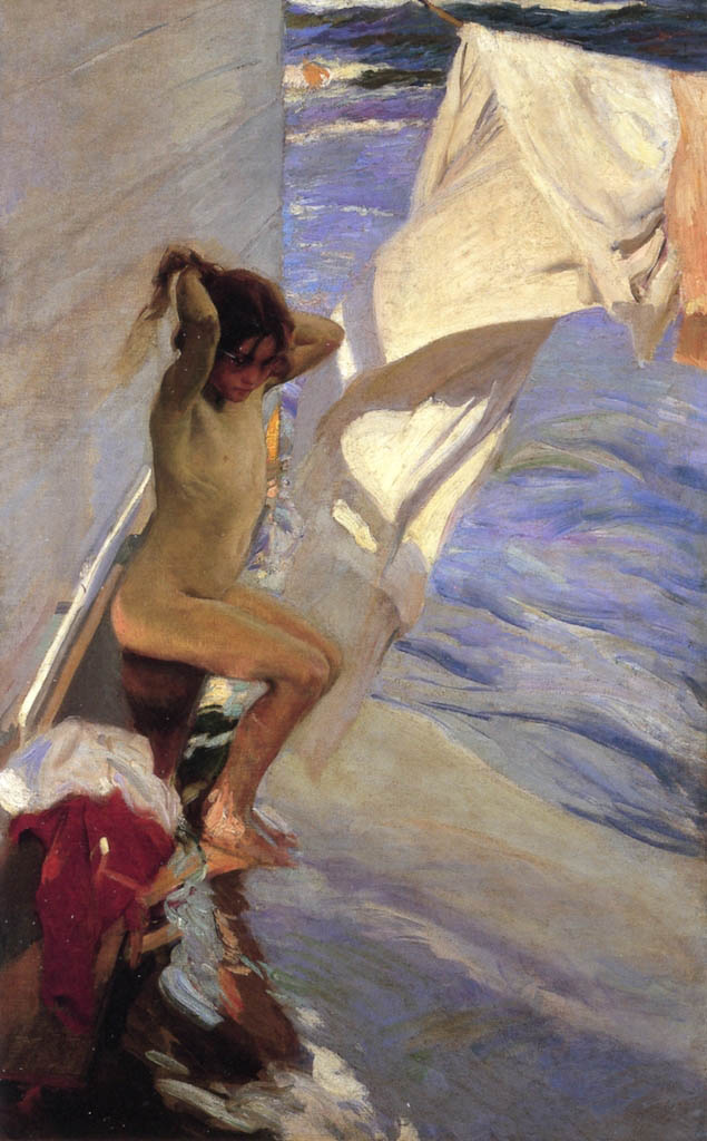 "Хоакин Соролья (Joaquin Sorolla) ""Before the Bath"""