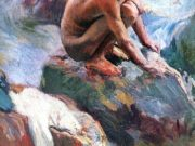 "Хоакин Соролья (Joaquin Sorolla) ""Boy on the Rocks, Javea"""