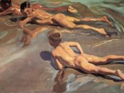 "Хоакин Соролья (Joaquin Sorolla) ""Boys on the Beach (2)"""