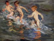 "Хоакин Соролья (Joaquin Sorolla) ""Children at the beach"""