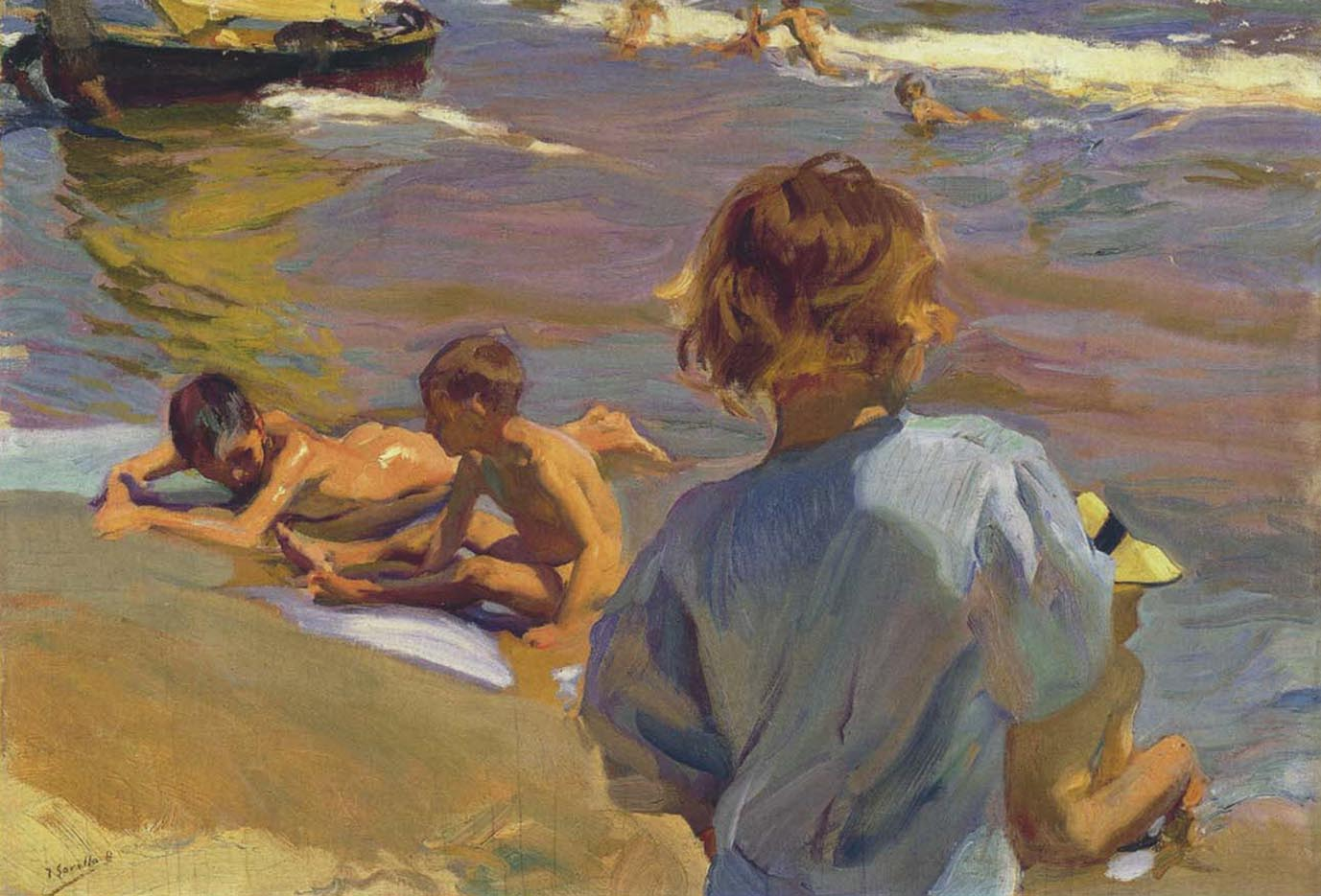 "Хоакин Соролья (Joaquin Sorolla) ""Children on the Beach, Valencia"""