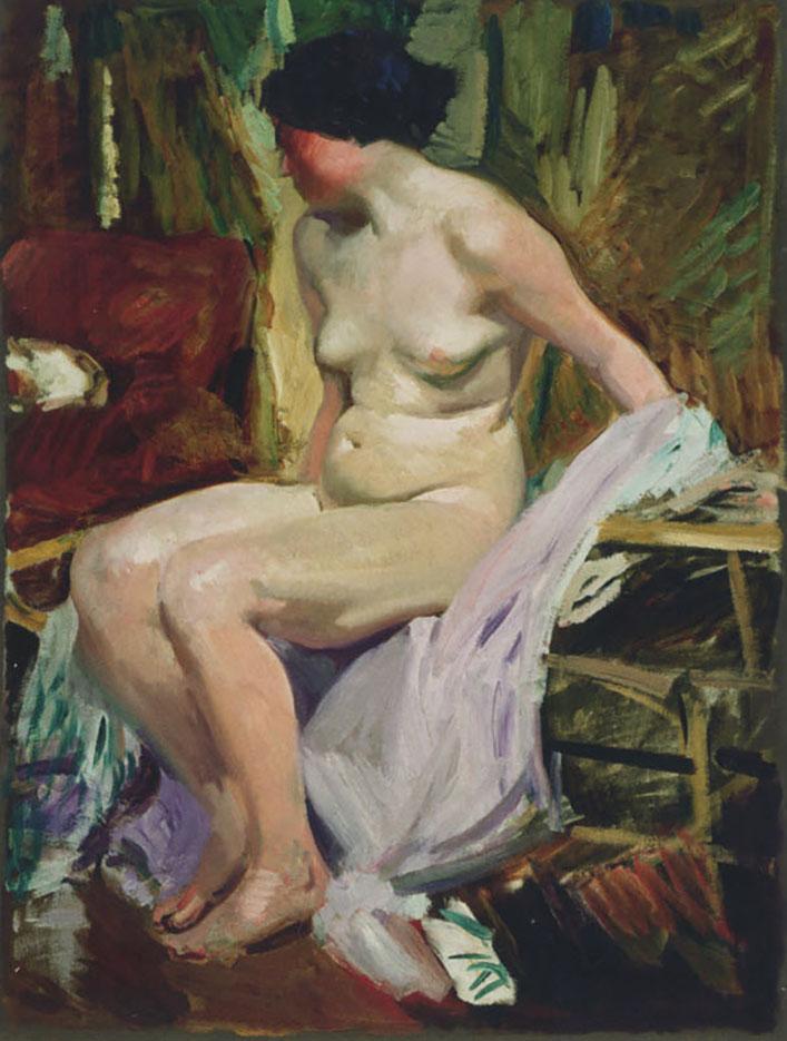 "Хоакин Соролья (Joaquin Sorolla) ""Female nude"""