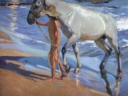 "Хоакин Соролья (Joaquin Sorolla) ""The Horse Bath"""