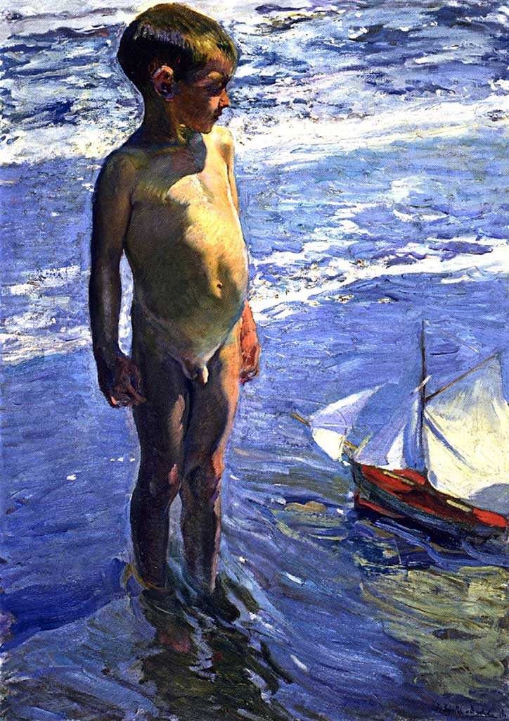 "Хоакин Соролья (Joaquin Sorolla) ""The Little Boatman"""