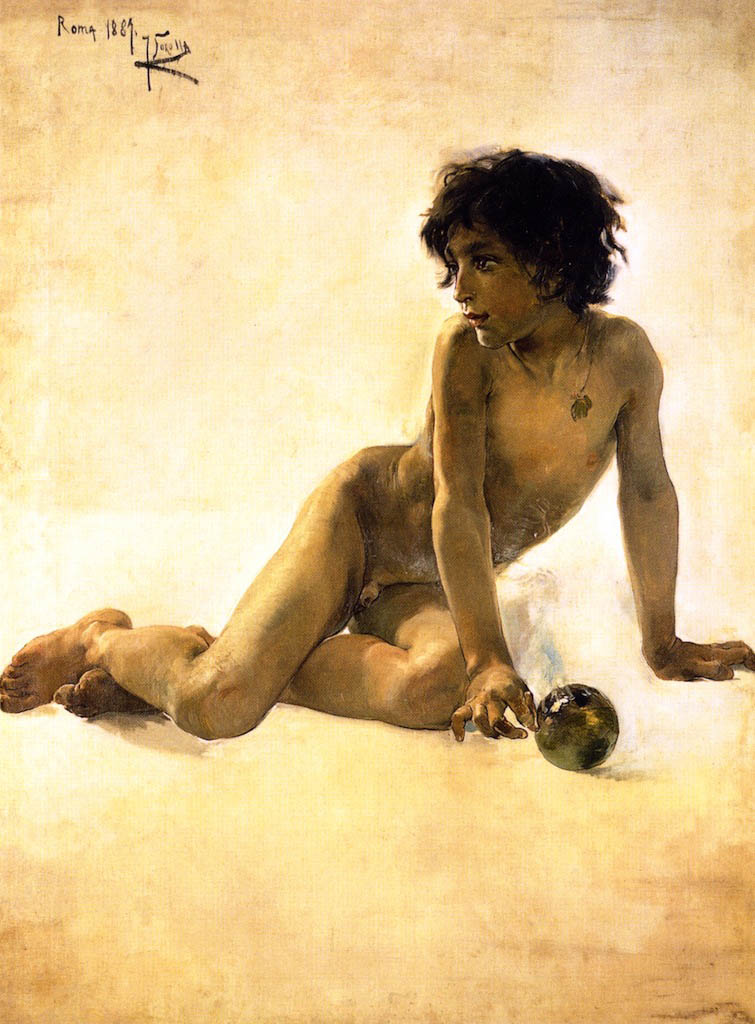 "Хоакин Соролья (Joaquin Sorolla) ""Nude with Ball"""