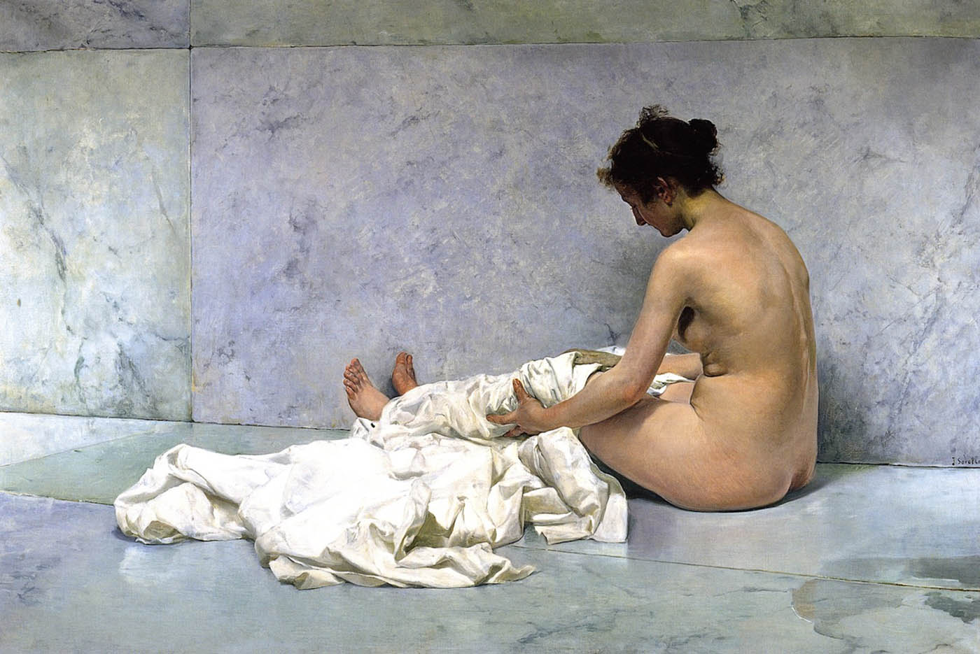 "Хоакин Соролья (Joaquin Sorolla) ""After Bathing"""