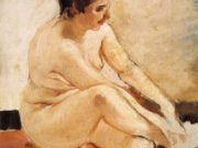 "Хоакин Соролья (Joaquin Sorolla) ""Seated Nude"""