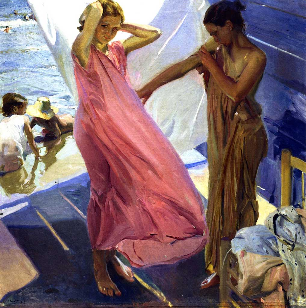 "Хоакин Соролья (Joaquin Sorolla) ""After Bathing, Valencia"""