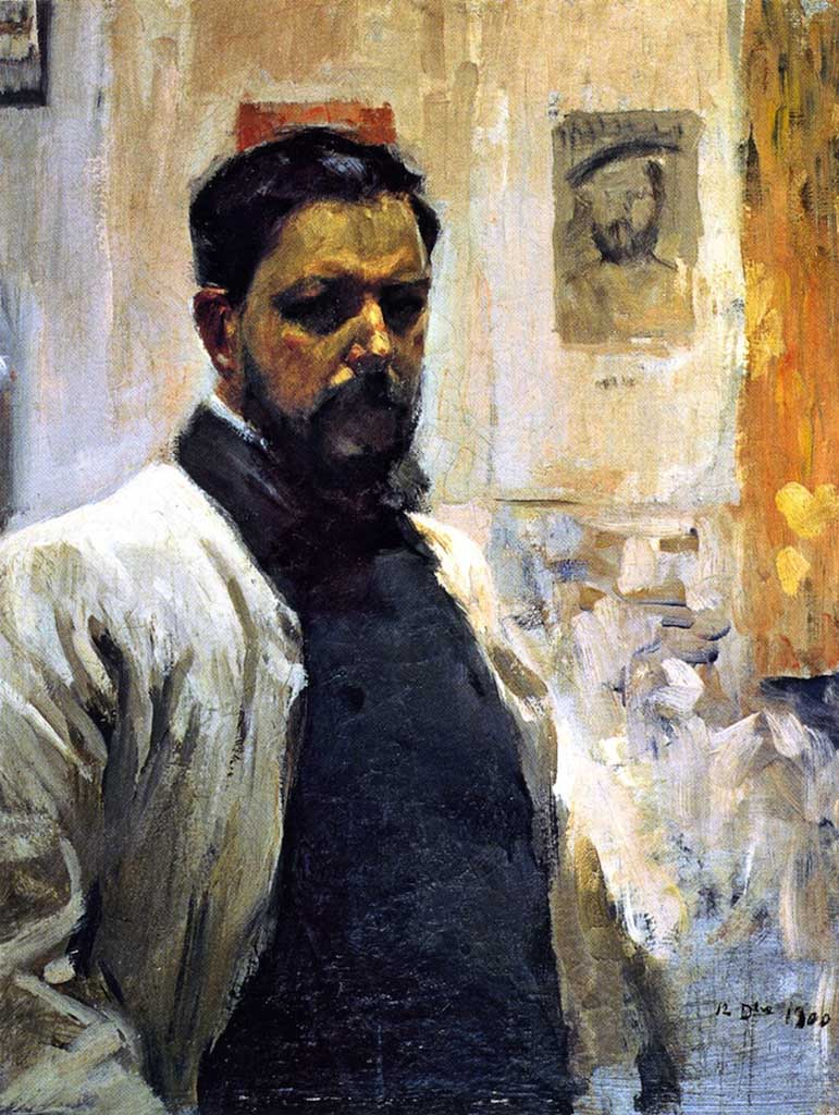 "Хоакин Соролья (Joaquin Sorolla) ""Self Portrait, 1900"""