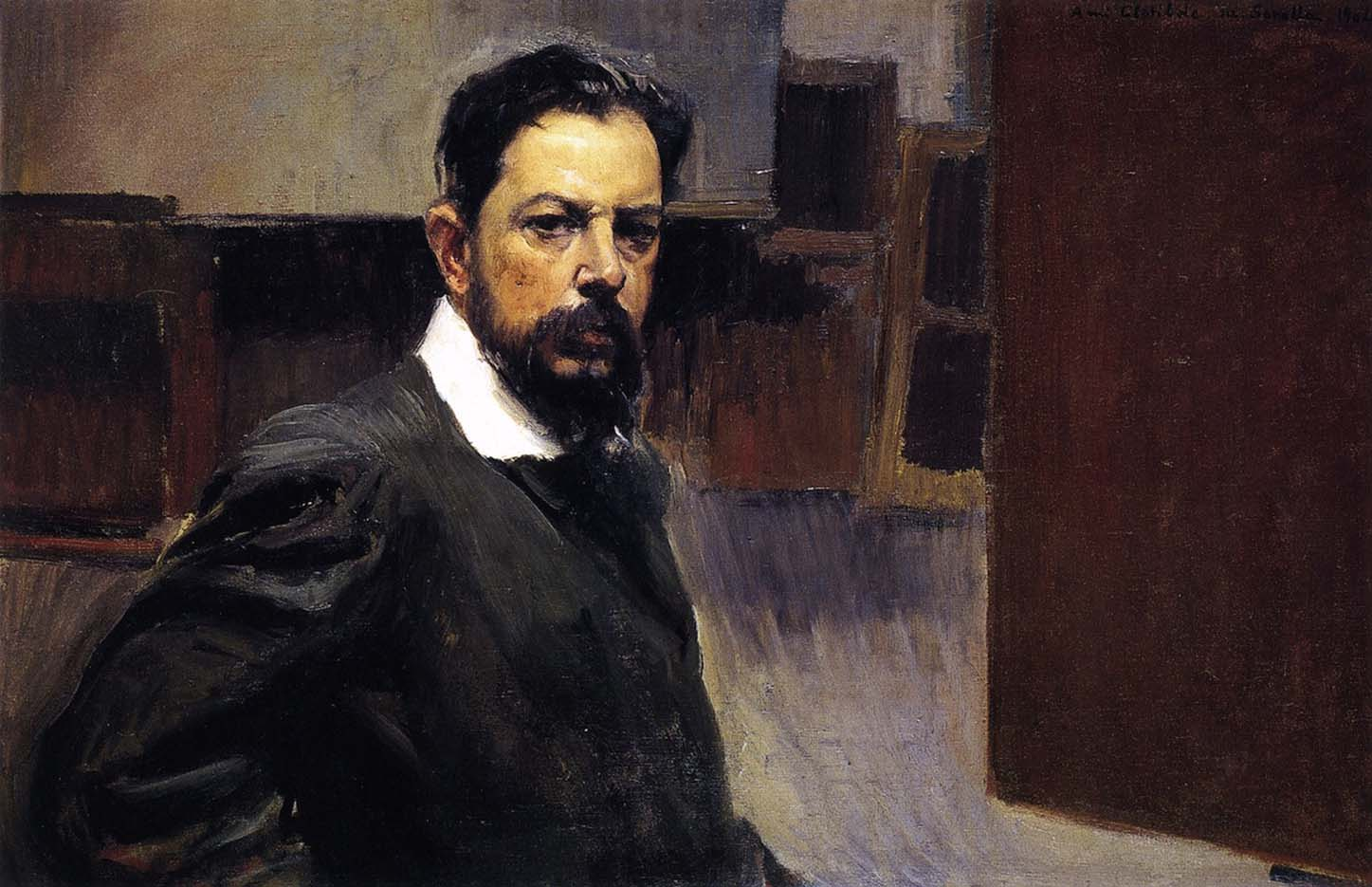 "Хоакин Соролья (Joaquin Sorolla) ""Self Portrait, 1904"""
