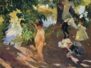 "Хоакин Соролья (Joaquin Sorolla) ""Bathing at La Granja"""
