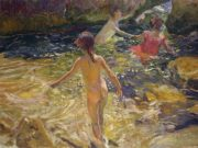 "Хоакин Соролья (Joaquin Sorolla) ""The Bath, Javea"""