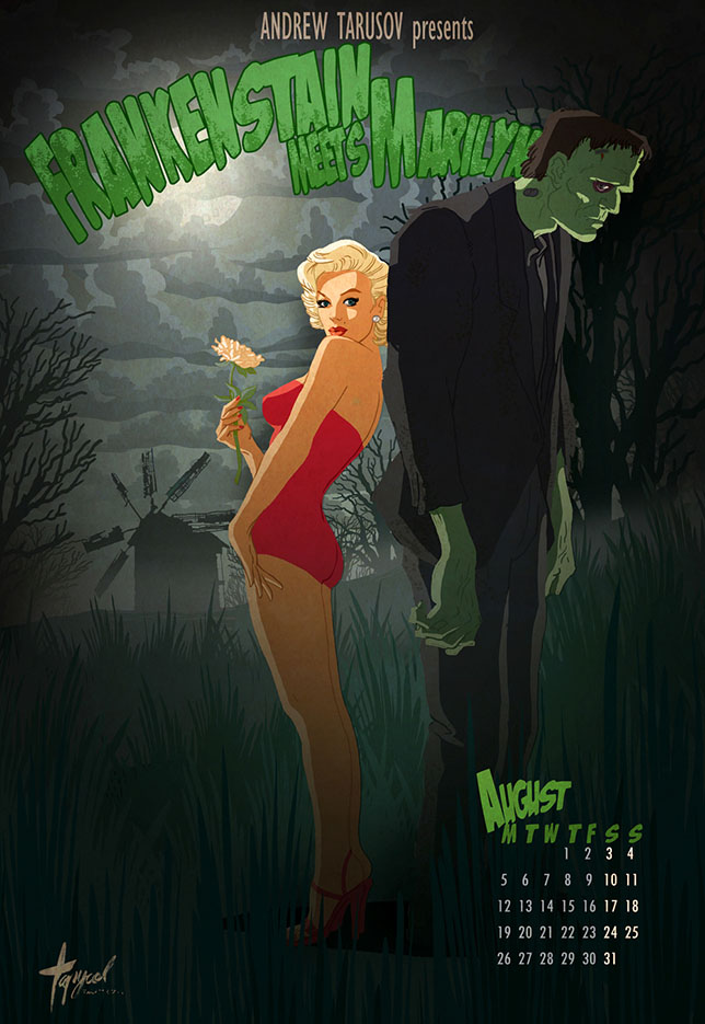 Андрей Тарусов (Andrew Tarusov), Marilyn Monroe and Boris Karloff in Frankenstain Meets Marilyn, August