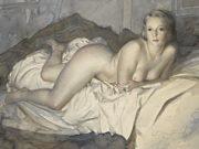 "Лев Чистовский (Lev Tchistovsky) ""Lying nude with a green ring"""