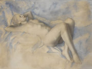 "Лев Чистовский (Lev Tchistovsky) ""Reclining Nude (16) """