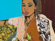 "Микалейн Томас (Mickalene Thomas) ""Portrait of Lovely Six Foota #3"""