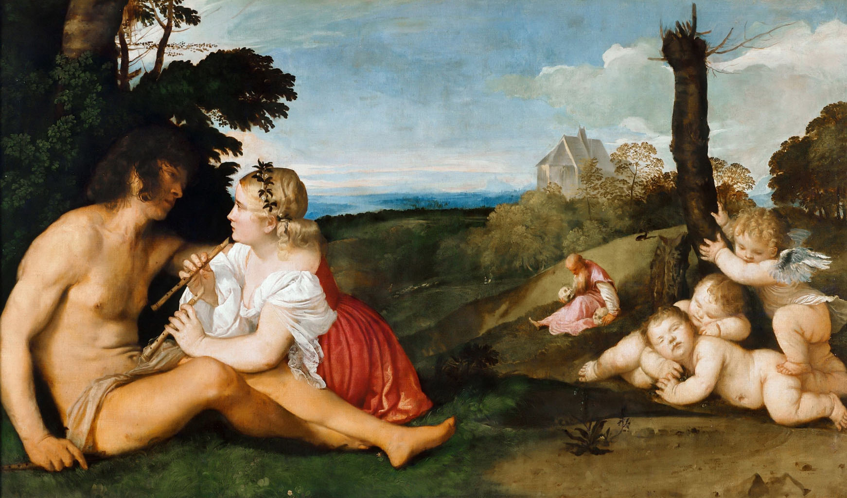 Тициан Вечеллио (Tiziano Vecellio), Аллегория трех возрастов мужчины