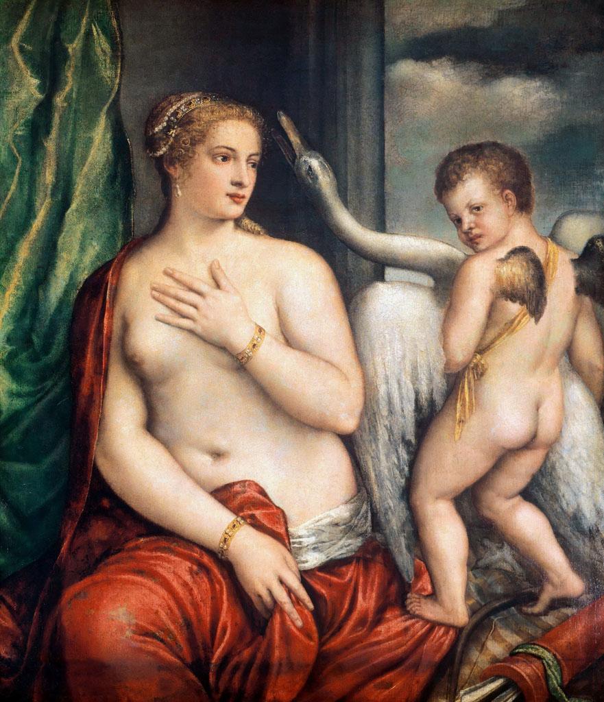 Тициан Вечеллио (Tiziano Vecellio), Леда и лебедь