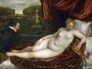 Тициан Вечеллио (Tiziano Vecellio), Венера, наслаждающаяся органной музыкой