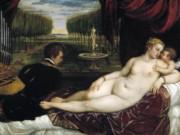 Тициан Вечеллио (Tiziano Vecellio), Венера с Купидоном и органистом