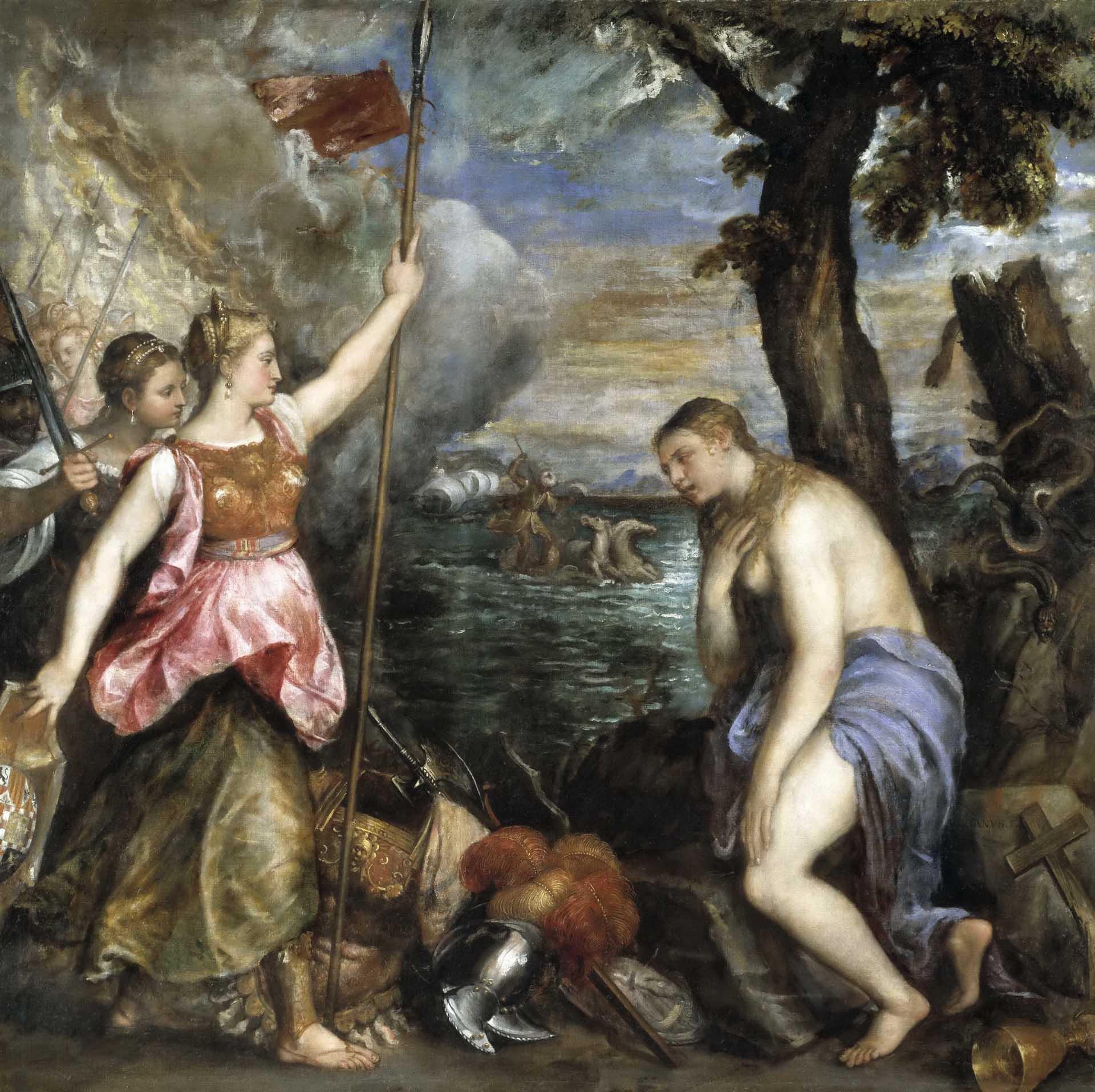 Тициан Вечеллио (Tiziano Vecellio), Аллегория Войны и Религии